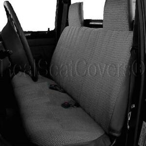 A23 DG Dark Gray RCab XCab Solid Front Bench Charcoal Seat Cover for Tacoma