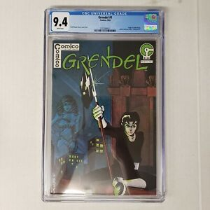 Grendel 1 CGC 9.4 White Pages Origin of Hunter Rose Wagner Cover Art Comico