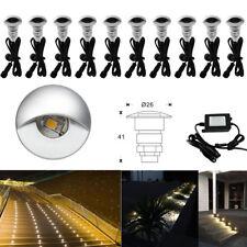 10pcs Waterproof 26mm Outdoor Stair Step LED Inground Deck Rail Light Spot Lamp