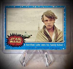 1977 STAR WARS - Series 1 Card #26 - A horrified Luke sees his family killed