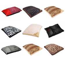 Luxury Dog Cat Puppy Pet Bed Fur Cushion Pillow Mattress Washable Zipped Cover