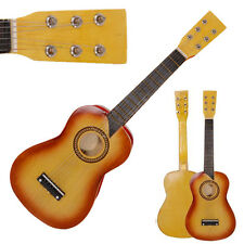 "25"" Children Kids 6 String Acoustic Guitar Beginner Practice Musical Instrument"