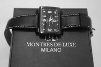 Montres De Luxe Milano Unisex 16:9 Estremo Double Material Case Watch Date new