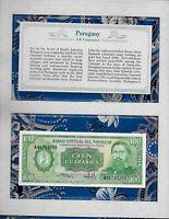 *Most Treasured Banknotes Paraguay 100 Guaranies 1982 P-205a.3 UNC Prefix A