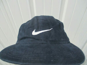 VINTAGE NIKE USTA X AETNA ARTHUR ASHE KIDS 1998 BLUE SEWN STRAPBACK HAT CAP