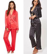 Full Length Satin Patternless Regular Nightwear for Women