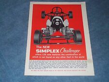"1960 Simplex Challenger Vintage Kart Ad "" Offers 125 New Features """