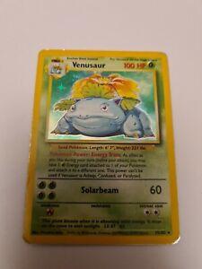 Venusaur 15/102 Base Set Holo Pokemon Card 1998 WOTC