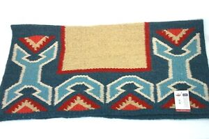 "Weaver Leather Brand 33 x 38"" Contour Topper Saddle Blanket Tan/Blue/Red 35-9164"