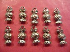 Tibetan Silver Sweets/Candy/Sweeties Charm - 10 per pack
