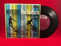 "THE SURFARIS  Wipeout 1963 UK 4-track 7"" Vinyl EP. London Records  RE-D 1405 EXE"