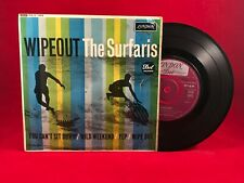 """THE SURFARIS  Wipeout 1963 UK 4-track 7"""" Vinyl EP. London Records  RE-D 1405 EXE"""