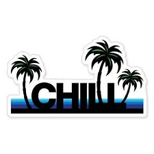 "Chill Beach Surf Playa Relax Vacation car bumper sticker decal 6"" x 4"""