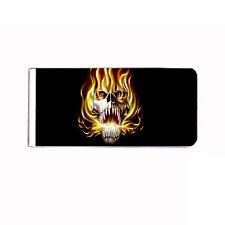 Metal Money Clip Cash Bills Credit Card Metal Holder Skull D 20