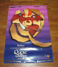 Warner Bros. 2 Sided Movie Poster Youth Bedroom Home Decor Cartoon Camelot Ruber