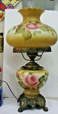 Vintage 1971 EF EF Industries GONE WITH THE WIND Lamp #145-4 Floral 3 way #2
