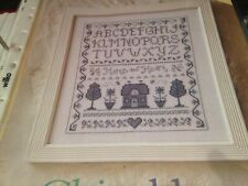 CROSS STITCH CHART CHINA BLUE SAMPLER CHART ALPHABET HOUSE HOME CHART