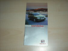 50406) Seat Cordoba Vario Zubehör Prospekt 06/2000