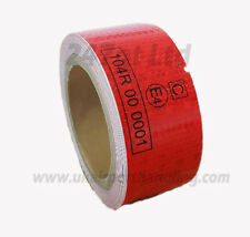 EC 104 -R RED REFLECTIVE CONSPICUITY TAPE 50mm x 25M METERS