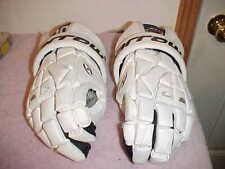 "New listing HARROW TORRENT 13.5"" Collegiate White Leather Lacrosse Gloves Lax, Black Trim"