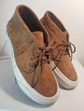 Vans Chukka Moc DX Suede Cognac Brown Fringe Sneakers Moccasins W7 M5.5
