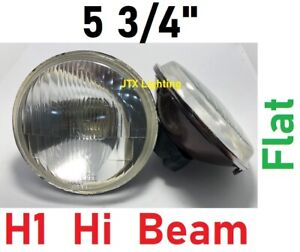"""1pr 5 3/4"""" Semi Sealed Inner Flat Headlights Lancia Fulvia Lotus Esprit"""