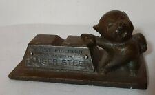 Vintage cast First Pig Iron KAISER STEEL paper weight 1943 advertising original