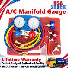 R134a R404a R22 R410a Hvac Ac Refrigeration Kit Ac Manifold Gauge Charging Set