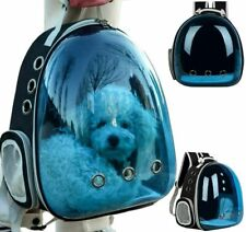 Polarized Transparent Traveler Bubble Backpack Pet Carriers for Cats & Dogs Blue