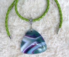 Gema Natural, Multicolores-Ágata-Colgante de piedra.
