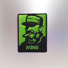 Fidel Patch — Iron On Badge Embroidered Motif — Castro Communist Communism Cuba