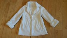 Girls gymboree Creme Faux Fur Coat Size 5