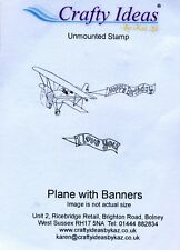 Crafty Ideas - Stamp - Plane with Banners