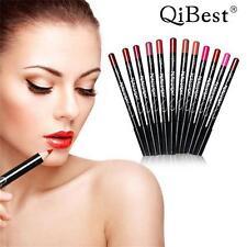 12 Colors Long Lasting Qibest Lipliner Pencil Waterproof Makeup Contour Pen