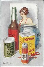 """DONALD McGILL - """"THERE'S  SOME HOT STUFF HERE """"  COMIC OLD  POSTCARD"""