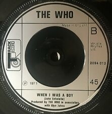 """The Who - Let's See Action UK 1972 7"""" Track Recs"""