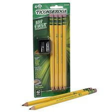 Ticonderoga My First #2 Pencils Kit with Sharpener 4 ea (Pack of 5)