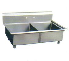 Sapphire Sms1515-2, 15x15-Inch 2-Compartment Stainless Steel Sink
