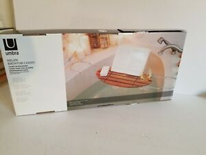 EXTENDABLE Bath Caddy TRAY UMBRA, HELEN EDITION, BAMBOO PHONE , BOOK WINE HOLDER