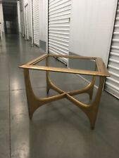 1950's Gold Coffee Table, Adrian Pearsall design/ Lane Furniture with glass top