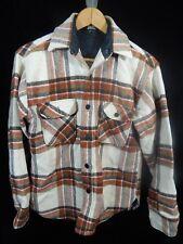 Vintage Men's Towncraft Penneys Brown/Tan Plaid Button Down Jacket; Size M