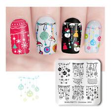 BORN PRETTY Nail Art Stamping Plate Square Nail Design Plates  Christmas S002