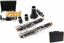 Professional Clarinet Ebonite Wood A Key Flat Clarinet 2 Barrels With Case Cloth