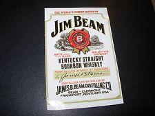 JIM BEAM BOURBON Rectangle Logo STICKER decal craft beer brewing brewery