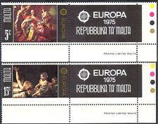 Malta 1975 Europa/Art/Paintings/Artists/du Mura/Boulogne 2v set + lbl (n43085)