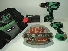 Hitachi 18V Lithium Ion BRUSHLESS Hammer Drill and Impact Driver Combo Kit (3...
