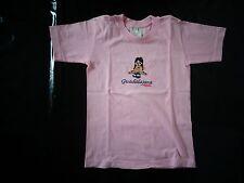 tee-shirt rose 10 ans à manches courtes motif petite fille