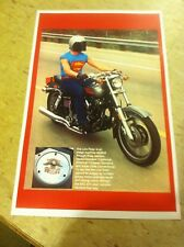 Vintage Harley Davidson Low Rider Superman Motorcycle Poster Ad Home Decor Art