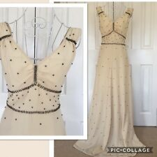 Kate Moss at Topshop Rare Ivory /diamante Gown Uk 8 New Vintage, Old Hollywood!