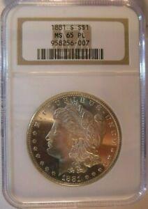 1881-S NGC MS65 PL Morgan Dollar - *CAC CERTIFIED*